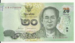 THAILANDE 20 BAHT ND2013 UNC P 124 - Thaïlande