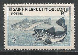 St. Pierre & Miquelon 1957. Scott #353 (M) Godfish * - St.Pierre Et Miquelon