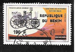 TIMBRE OBLITERE DU BENIN SURCHARGE  EN 1990 N° MICHEL 503 - Benin – Dahomey (1960-...)