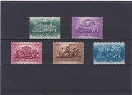 1936 Budapest Mi. 538/42, Yv. 479/83, Scott 498/502  MNH Postfrisch     118 - Hongrie