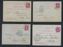 LEOPOLD II    20 Postkaarten Met O.a. Van Nr. 30 + Fijne Baard En Grove Baard ; Staat Zie 6 Scans ! LOT 238 - Belgique