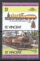 St. Vincet 1985. Scott #837 (MNH) Locomotive, 1893 No. 103 Class Jones Goods * - St.Vincent (1979-...)