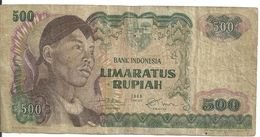 INDONESIE 500 RUPIAH 1968 VG+ P 109 - Indonésie