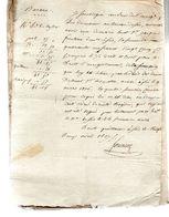 Marie HUET Veuve De Jacque Prouteau  Demeurant à Sées .Droit D'enregistrement De La Succession.1 Page.22 Avril 1807 - Documents Historiques