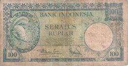 INDONESIE 100 RUPIAH ND1957 VG+ P 51 - Indonésie