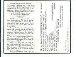 B.P.   WAREGEM NUYTENS JOANNES 1911 - 1962 - Religion & Esotericism