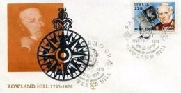 ITALIA - 1979 FDC 100°MORTE SIR R HILL - Rowland Hill