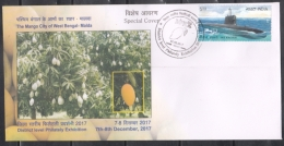 India  2017  The Mango  ( Fruit ) City Of West Bengal  MALDA  Special Cover   #  08484   D  Inde Indien - India