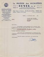 75 19 094 PARIS SEINE 1956 La Maison Des Alcaloides BOYER Rue De La Perle MEDICAMENT DROGUE HUILE USINE  A MAISSE 91 - 1900 – 1949