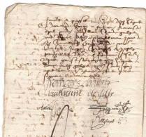 Jacques Chabot Marquis De Mirebeau, Page De Henri II Et Catherine De Silly, Manuscrit 10 P, 1608 - Autogramme & Autographen