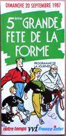 Dépliant Publicitaire Illustré Par YVES CHALAND : 5ème Grande Fête De La Forme (20 Septembre 1987) - Books, Magazines, Comics