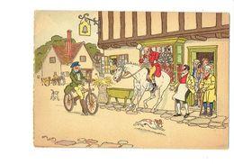 Cpm Illustration BARRE DAYEZ, Illustrateur Harry Eliott Bicyclette Vélo Enseigne Cloche Chien Cheval Cavalier Peur - Illustrateurs & Photographes