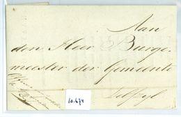 GESCHREVEN BRIEF Uit 1823 Van De OFFICIER Van JUSTITIE Te LANGSTEMPEL APPINGEDAM Aan BURGEMEESTER Te DELFZIJL  (10.674) - Pays-Bas