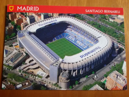 Madrid Real Estadio Santiago Bernabeu  Stadium Cartolina Stadio Postcard Stadion AK Carte Postale Stade Estadio - Calcio