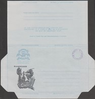 "Ouganda Vers 1987. Aérogramme ""On Postal Service"". Rhinocéros. Très Rare - Rhinozerosse"
