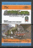 St. Vincet Grenadines-Bequia 1985. Scott #23 (MNH) Locomotive, 1943 Royal Scot UK * - St.Vincent & Grenadines