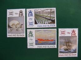 FALKLAND YVERT POSTE ORDINAIRE N° 496/499 TIMBRES NEUFS** LUXE COTE 6,50 EUROS - Falkland Islands