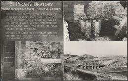 Multiview, St Piran's Oratory, Perranporth, Cornwall, C.1960 - RP Postcard - England