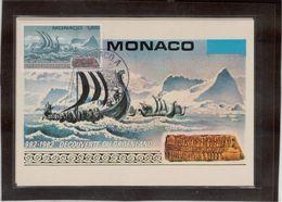 18 - MONACO POLAIRE 982 - 1982 Découverte Du GROENLAND 8.11.82 Sur PO 1356 Erik Le Rouge -  Carte Illustrée. - Monaco