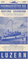 Schweiz - Vierwaldstätter See - Ausflüge Schiffe Und Bergbahnen - Faltblatt 1962 - Europe