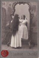 Photo.The Girl With Long Hair Looks In A Beautiful Mirror. Poltava 10.5x16cm. Khmilevsky Ukraine - Photographs