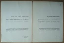Faire-part Du Mariage D'Anne Du BOIS De VROYLANDE & Jean ANCIAUX De FAVEAUX. - 1958. - Mariage