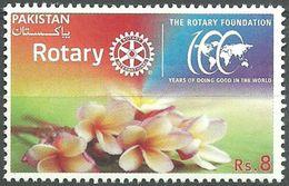 ROTARY FOUNDATION, 100 YEARS FLOWERS, MNH 2016 - Pakistan