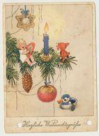 AK CP  Glückwunsch Weihnachten Zwerg - Noël
