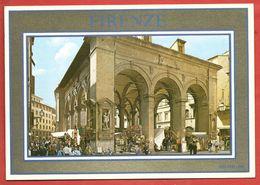 CARTOLINA NV ITALIA - FIRENZE - La Loggia Del Mercato Nuovo - Golden Line - 10 X 15 - Firenze (Florence)