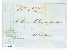 HANDGESCHREEN BRIEF Uit 1847 Gelopen Van DELFZIJL Naar SCHIEDAM (10.681) - Nederland