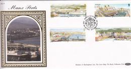 Isle Of Man 1992 Manx Ports - On Silk FDC - Man (Insel)