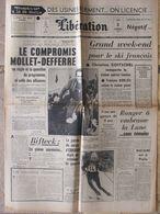 Libération (3 Fév 1964) Mollet-Defferre - Ski Français - Ranger 6 - Mengele - 1950 à Nos Jours