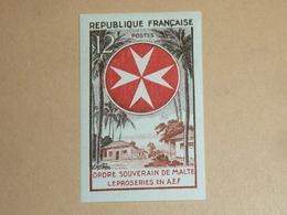 TIMBRE DE FRANCE NON DENTELE N°1062a ORDRE DE MALTE, LEPROSERIE EN A.E.F. - NEUF SANS CHARNIERE (C.V) - France