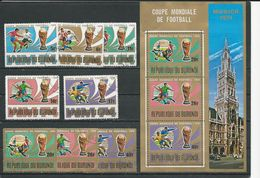 BURUNDI  Scott 455-459, C196-C198, 459a Yvert 639-643, PA343-PA345, BF76** (8+bloc)  O Et ** Cote 10,00 $ 1974 - Burundi