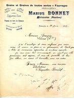 84..MALAUCENE.GRAINS & GRAINES.FOURRAGES.MARIUS BONNET. - Agriculture