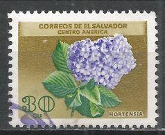 Salvador, El 1965. Scott #754 (U) Flower, Hortensia * - Salvador