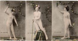 Femme Nue - 3 CPA - Les Guirlandes   (103819) - Nus Adultes (< 1960)