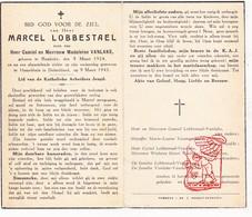 DP † Verjaardag Dwangarbeider WO II 40-45 Marcel Lobbestael / VanLake ° Rumbeke Roeselare BE 1924 † Hummelshain DE 1945 - Images Religieuses