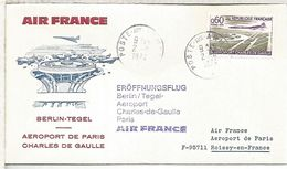 FRANCIA MAT POSTE AUX ARMEES 1974 AEROPUERTO BERLIN TEGEL AIR FRANCE - Aviones
