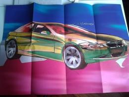 Dep037 Depliant Poster Brochure Advertising Quattroruote BMW Auto Car Sketch Design Serie 3 - Automobili