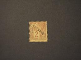 REUNION - 1881 ALLEGORIA 2 C. - TIMBRATO/USED - Réunion (1852-1975)