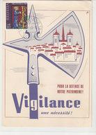 Genève - Vigilance - Pour La Défense De Notre Patrimoine - 1969       (P-123-60821) - Partis Politiques & élections