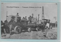 BRASSCHAAT:  TRANSPORT D'OBUSIERS DE 24 CM-TRACTEUR-TRAKTOR-MET VOLK - Brasschaat