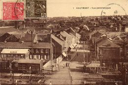 CPA - HAUTMONT (59) - Aspect De La Rue De La Gare Et Du Passage à Niveau En 1931 - Autres Communes
