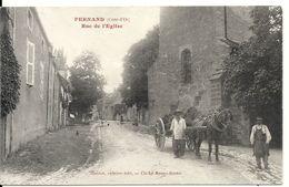 PERNAND. RUE DE L'EGLISE. ATTELAGE - Andere Gemeenten
