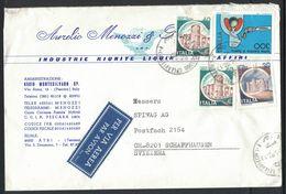VE130   Storia Postale 1982 Busta Da Montesilvano Spiaggia A Schaffhausen Svizzera - Lotta Contro Il Fumo + Castelli - 6. 1946-.. Repubblica
