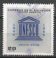 Salvador, El 1966. Scott #770 (U) UNESCO Emblem * - Salvador