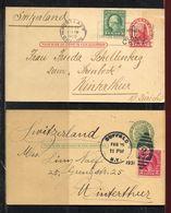 USA, 1922 / 31  ,  Postcard,  Portland & Buffalo To Switzerland  Winterthur - Etats-Unis