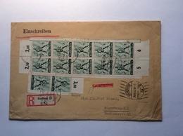 1940 Tag Der Arbeit 1 Mai Mi. 745  MEF R-Brief HAMBURG (Deutsches Reich Cover Lettre Paysan Bauer Farmer - Allemagne