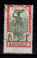 YV 125 Oblitéré Cote 2,75 Eur - Piquage à Cheval - Martinique (1886-1947)